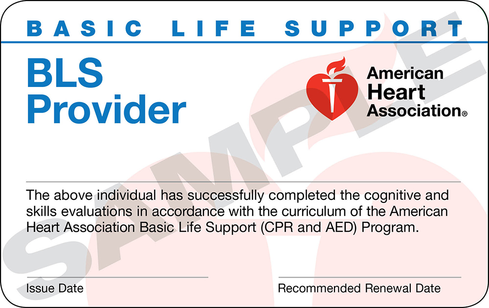 Replacement Card Btfd Cpr Training